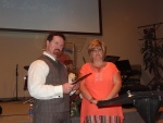 Pastor and Sis. Theresa receiving their gift
